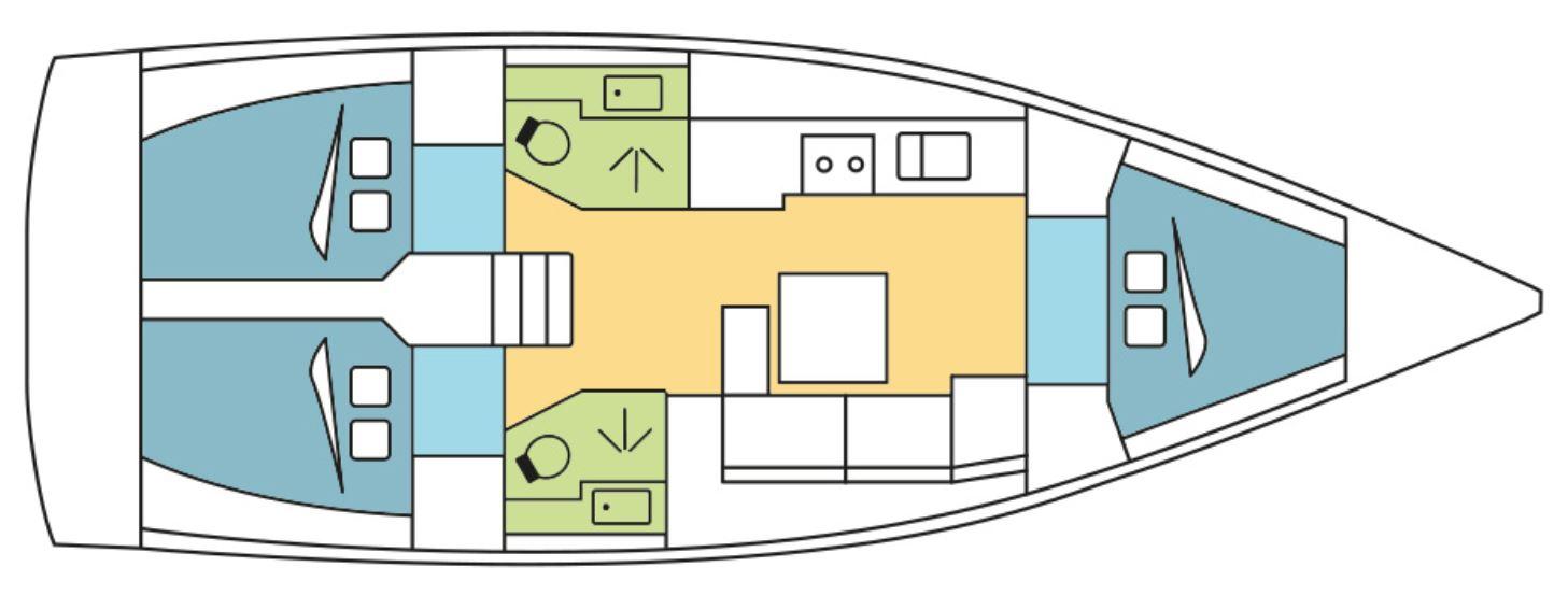 Economy Yacht CheckSailing Layout